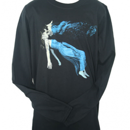 Night Thoughts Long Sleeved T Shirt With Back Print