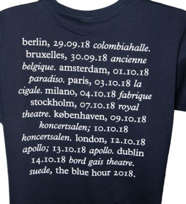 Blue Hour Tour T Shirt With 2018 Tour Date Back Print